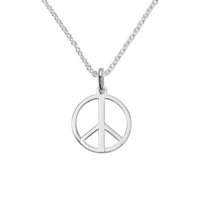 Dogeared 愛和平銀色項鍊 LOVE PEACE 和諧好人緣 附原廠盒