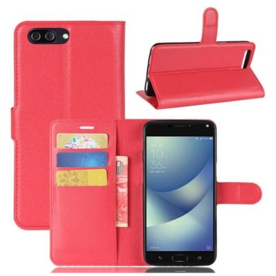PKG ASUS Zenfone4 MAX ZC554KL 側翻式皮套經典皮革-...