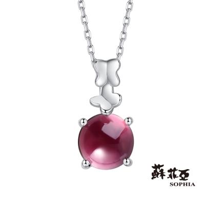 蘇菲亞SOPHIA 玩美寶石系列-雙飛紅石榴石項鍊