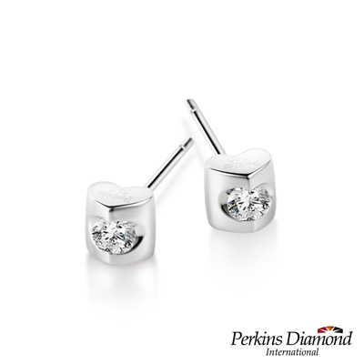 PERKINS 伯金仕 - Heart 系列 0.10克拉鑽石耳環