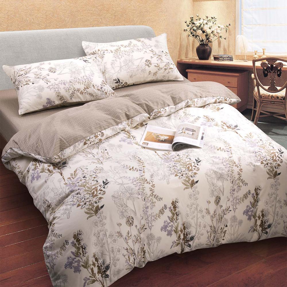 喬曼帝Jumendi-悠閒情柔 台灣製雙人四件式特級100%純棉床包被套組