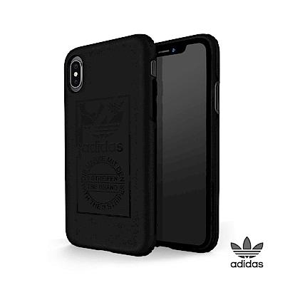 adidas iPhone X 經典三葉草 全保護手機殼 經典黑