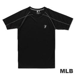 MLB-巴爾的摩金鶯隊反光圓領快排拉克蘭T恤-黑(男)