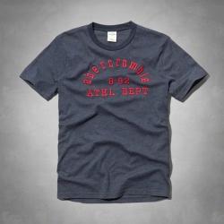 A&F  KIDS(16)紅色字母短T恤(藍)-童版