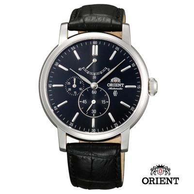 ORIENT 東方錶 POWER RESERVE系列 藍寶石機械錶-黑色/41mm