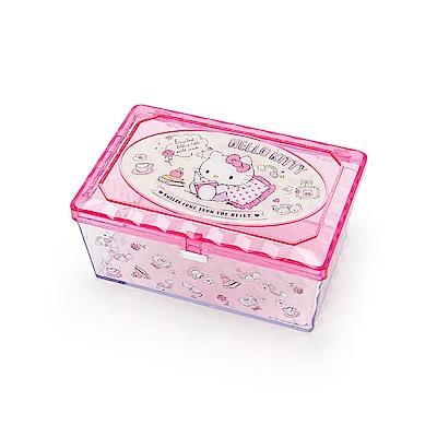 Sanrio HELLO KITTY閃耀光澤小物收納盒(悠閒生活)