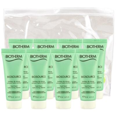 BIOTHERM-碧兒泉-極水感活泉平衡潔顏膠-20MLx8-贈-品木透明夾鏈袋