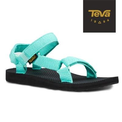 TEVA 美國-女 Original Universal 緹花織帶涼鞋 (湖水綠)