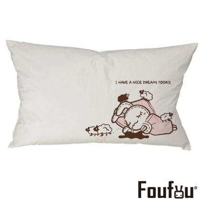 Foufou 抱枕套-好夢甜 白色(單人枕套)