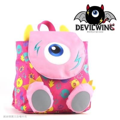 Devil Wing 小惡魔印花腳ㄚ防走失背包(書包)-粉紅