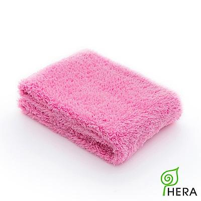 HERA 3M專利瞬吸快乾抗菌超柔纖-多用途洗臉巾-蜜桃紅