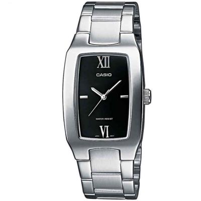 CASIO 經典酒桶型羅馬紳士腕錶(MTP-1165A-1C2)-黑面/28mm
