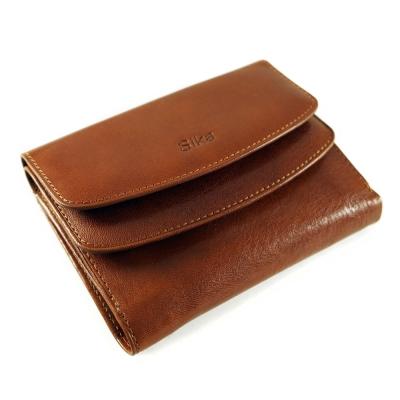 Sika - 義大利時尚真皮雙蓋中夾A8205-01 - 原味褐