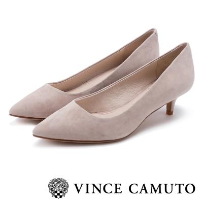 Vince Camuto 真皮素面尖頭中跟鞋-粉色