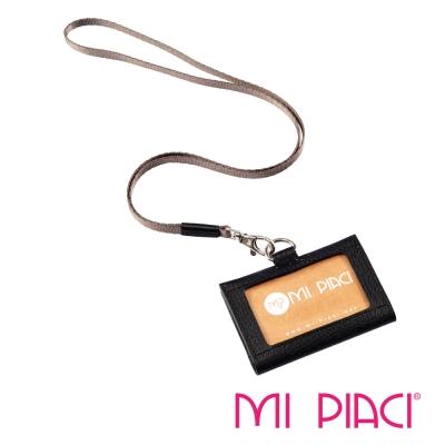 MI PIACI-Jet Set-證件套-皮款橫式-1085404-黑