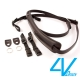 4V LUSSO-MEDIUM系列相機背帶 MP01B-VV0909-黑/黑色(M) product thumbnail 1