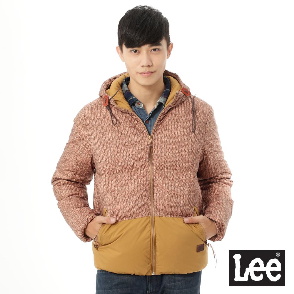 Lee 羽絨連帽外套Regional系列-男款-土黃