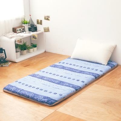 LAMINA  雅蓆兩用床墊-藍色拓葉5cm (單人)