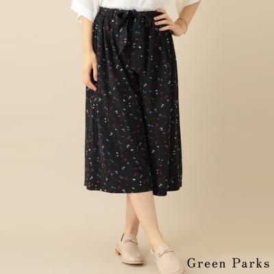 Green Parks 甜美印花綁帶寬褲
