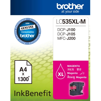 Brother LC535XL-M 原廠紅色墨水匣