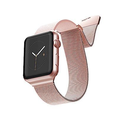 x-doria Apple Watch 42mm HYBRID MESH 玫瑰金錶帶