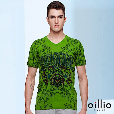 歐洲貴族oillio V領線衫 奢華魅力 雅痞時尚 綠色