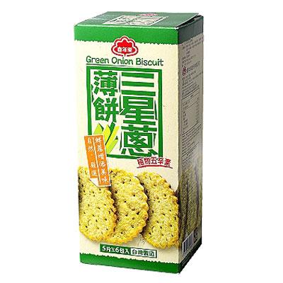 喜年來-三星蔥薄餅-120gx6盒