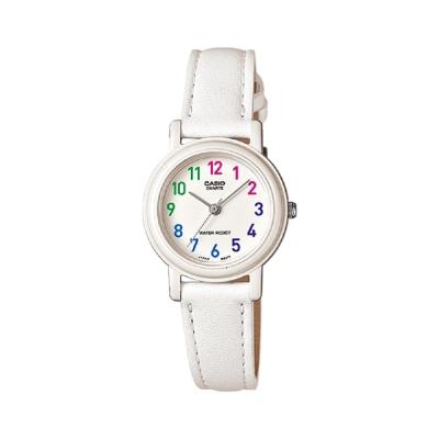 CASIO馬卡龍甜心魅力皮帶腕錶LQ-139L-7B-粉嫩白26mm