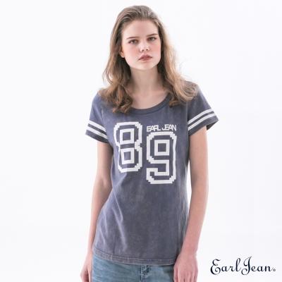 Earl Jean 水洗運動T恤-深藍-女