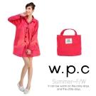 【w.p.c.】baby style。時尚雨衣/風衣(R1002)_桃紅