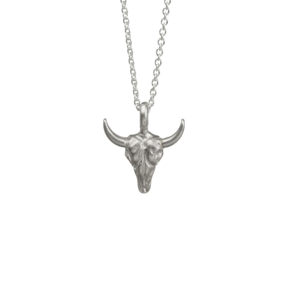 Dogeared 立體牛頭 勇敢冒險 不畏艱難 銀色項鍊 Bull Skull 附原廠盒 @ Y!購物