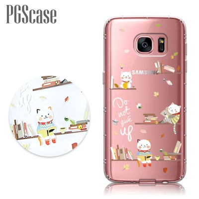 PGS Samsung Galaxy S7 奧地利彩鑽防摔手機鑽殼-貓咪書房