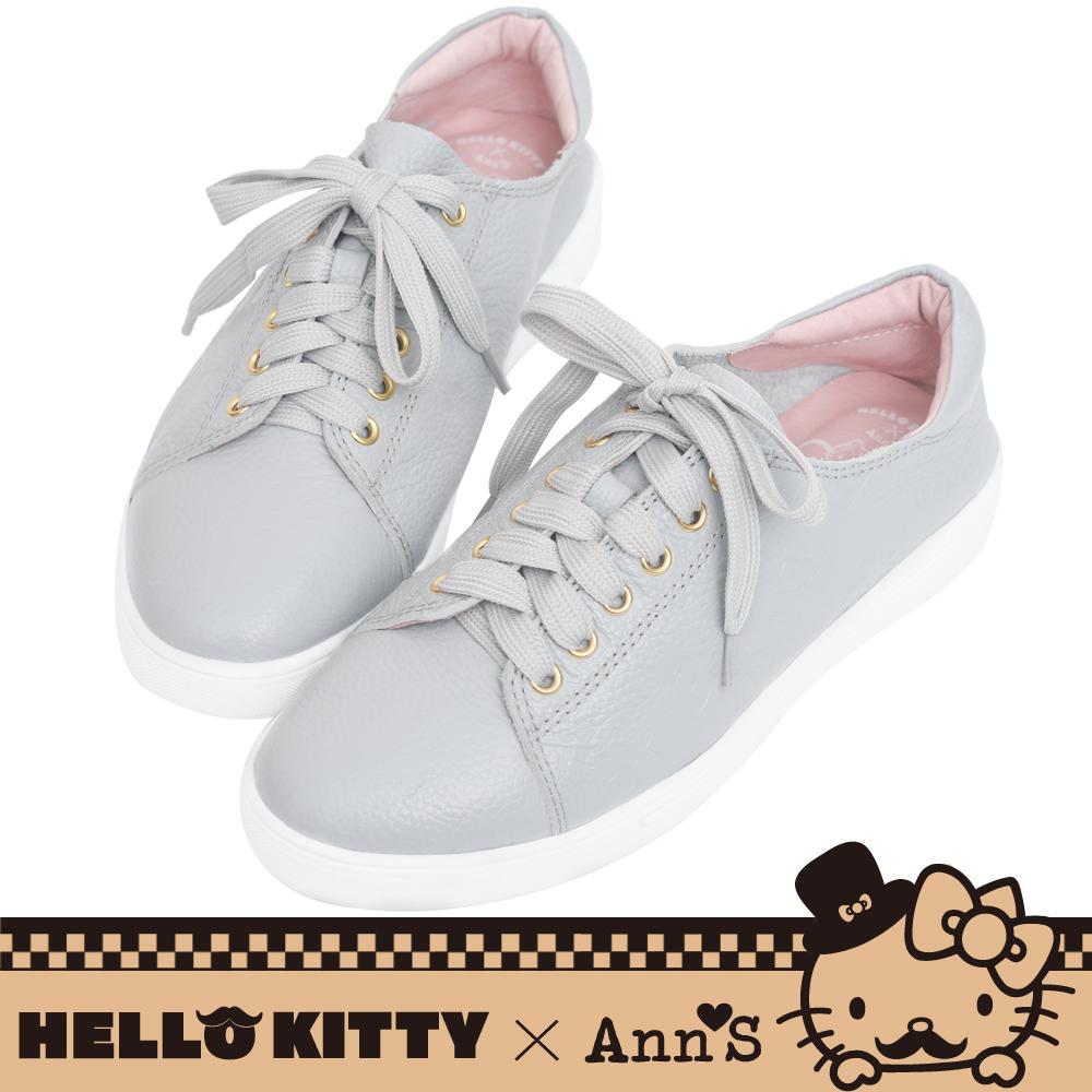 HELLO KITTY X Ann'S達利2way蝴蝶結真皮休閒鞋-灰