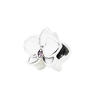 Pandora 潘朵拉 白塘瓷蘭花鋯石墜