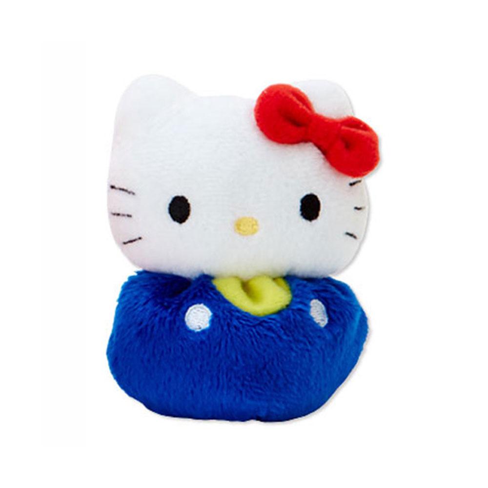 Sanrio HELLO KITTY迷你豆豆絨毛玩偶(藍褲)