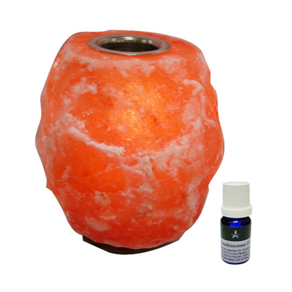 BodyTemple喜馬拉雅山精油鹽燈2~3kg附贈100%精油10ml(甜橙)