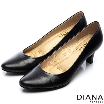 DIANA-超厚切焦糖美人D款-第二代素面真皮制鞋