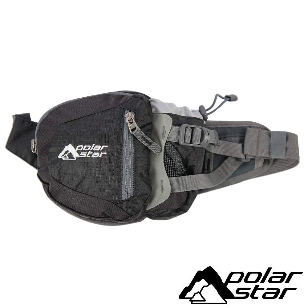 【PolarStar】休閒腰包『黑』露營│健行│旅遊 P15814-709