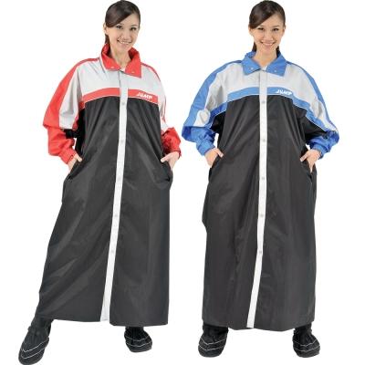 JUMP 將門 MIT俏麗輕柔前開連身風雨衣(2XL~5XL)加大尺寸