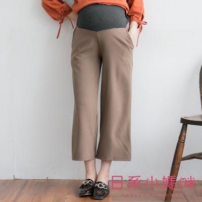 日系小媽咪孕婦裝-台灣製孕婦褲~知性簡約挺版寬褲 M-XXL (共三色)