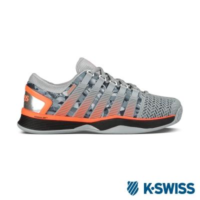 K-Swiss Hypercourt 2.0專業網球鞋-男-灰/黑/螢光橘