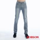 BOBSON   男款高腰膠原蛋白彈性直筒褲-淺灰