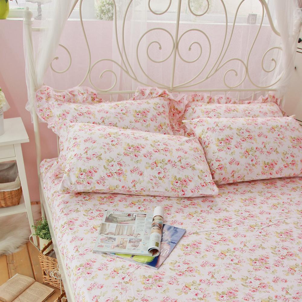 OLIVIA 《奧莉薇》100%精梳純棉單人鋪棉冬夏兩用被套床包組