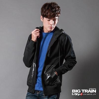 BIG-TRAIN-連帽針織外套-黑