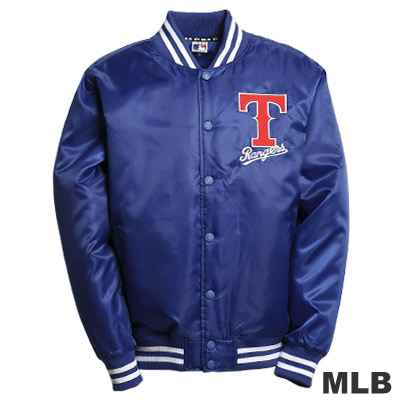MLB-德州遊騎兵隊鋪棉棒球外套-藍(男)