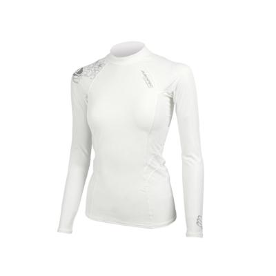 AROPEC Compression II 女款運動機能衣 長袖 白