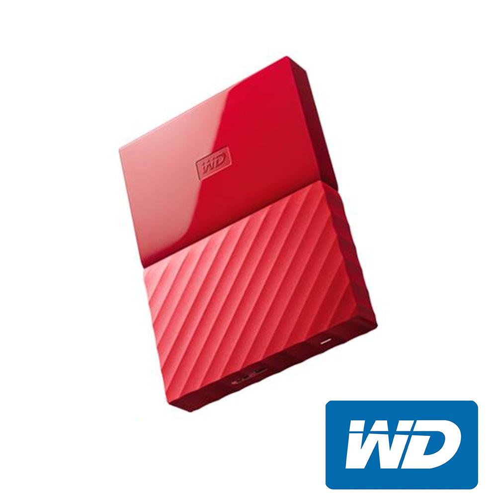 WD My Passport 4TB 2.5吋行動硬碟(WESN)-紅色系