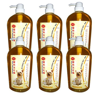 YC 寵物洗毛精1000ml 6瓶 保健抗炎-成、幼、犬、貓適用