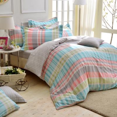 IN HOUSE--Glasgow dessert-200織紗精梳棉-兩用被床包組(特大)