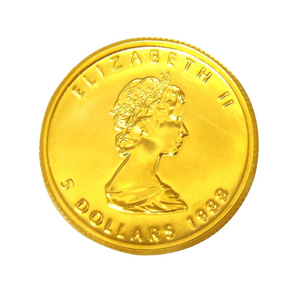 楓葉金幣-加拿大1988年楓葉金幣1 10盎司